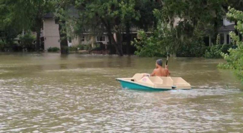 Regis Prograis' house got submerged by the Hurricane Harvey