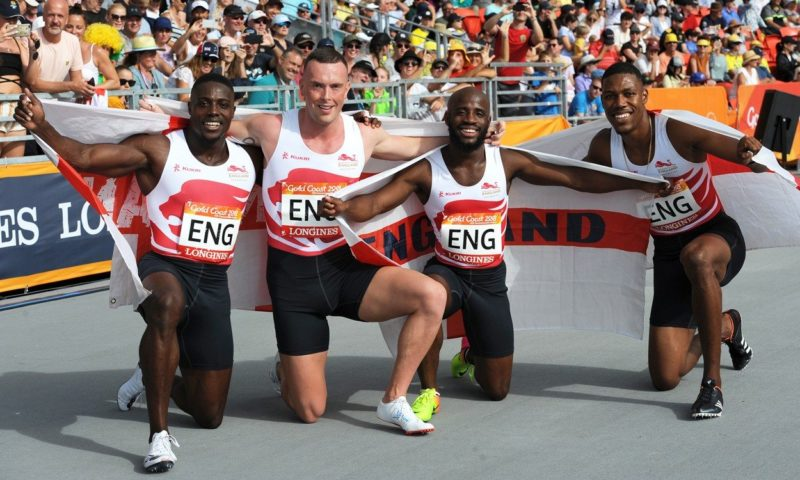 England 4x100m relay team, Gold Coast 2018