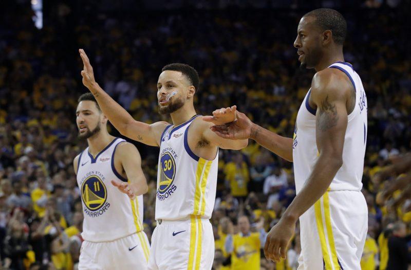 Klay Thompson and Stephen Curry, the Warriors put supersub Andre Iguodala